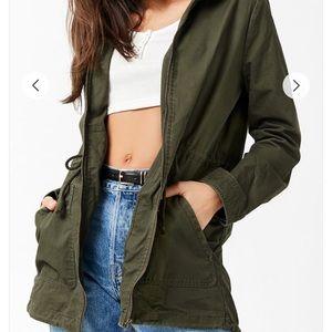 Forever 21 green utility jacket